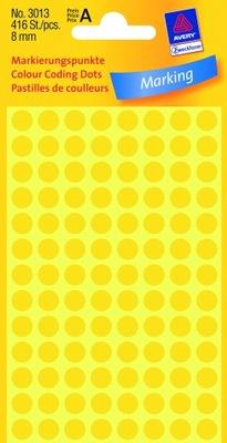 Kółka do zaznaczania fi 8mm żółte Avery