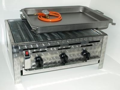 сковорода и Гриль газовый K +F , 3 горелки , 2 Функции