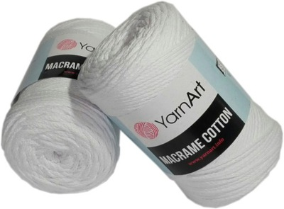 шнурок MACRAME COTTON Yarn Art 751 Белый