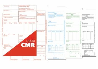CMR (List przewozowy) 3+1 80 kartek, 20 kpl.