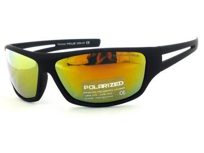 okulary SPORTOWE polaryzacja LUSTRZANKI rowerowe