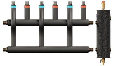 Hydraulická spojka izolovaný kolektor 40kW 4dr.