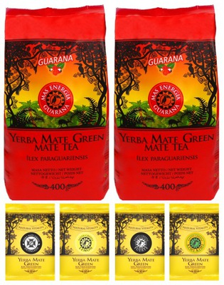 1кг Yerba Mate green Mas Energia Guarana 2x 400 г