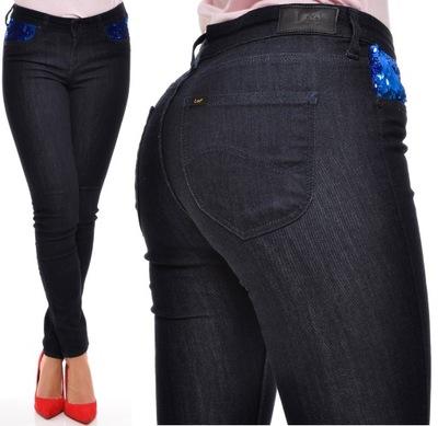 LEE spodnie regular SKINNY jeans SCARLETT W29 L33