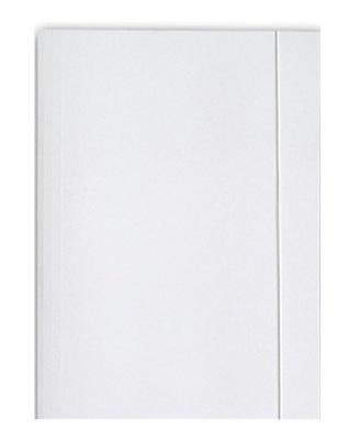 Teczka z gumką A4 BARBARA tekturowa biała 10szt