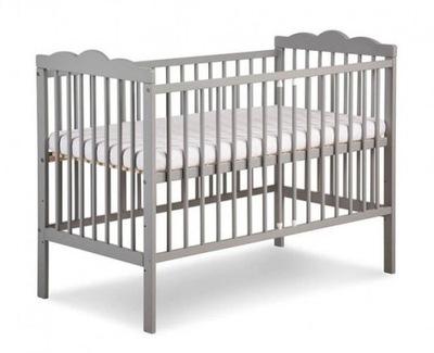 KLUPŚ ŁÓŻECZKO dziecięce 120x60 OLIVER Szary