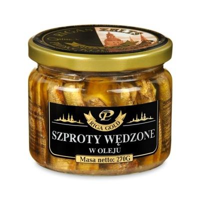[ŚD] Książęce Szproty Wędzone RIGA GOLD Słoik 270g