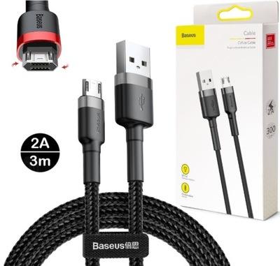 Kabel do ładowania MICRO USB Baseus 3m 2A