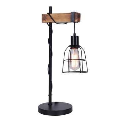 stolná Lampa PONTE tvrdého dreva Vintage