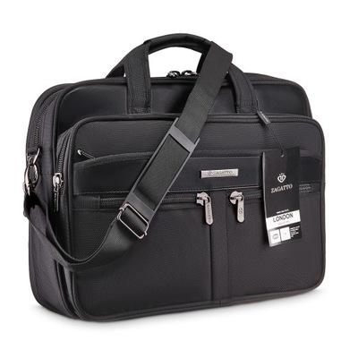 Pojemna torba na ramię na laptopa do pracy Zagatto