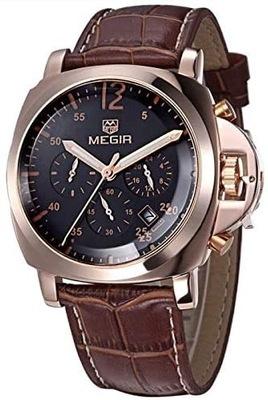 Zegarek męski MEGIR ML3006GREBN różowe złoto