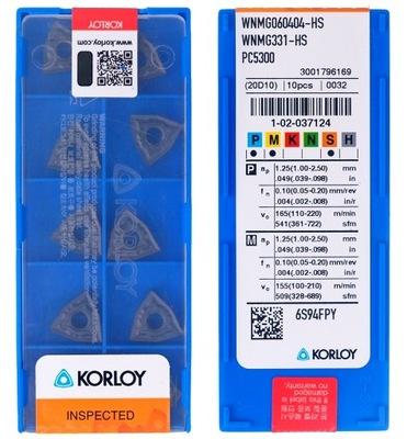 PŁYTKI WĘGLIKOWE WNMG 060404 HS PC5300 KORLOY