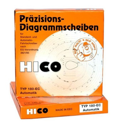 Tarczki tacho Hico 180-EC Automatik wykresówki