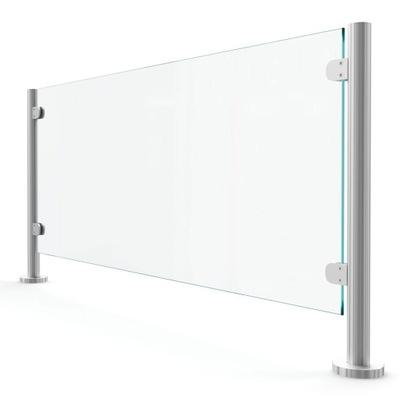 Konstrukcja osłony ochronnej na biurko wys. 750 mm
