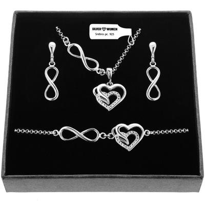 Komplet biżuterii srebrnej 925 srebro Grawer