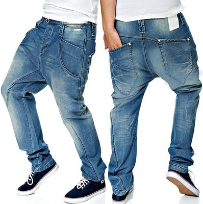 -75% HUMOR MOVITO LIGHT BLUE spodnie baggy 28