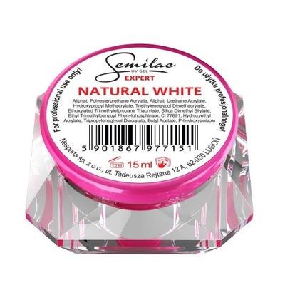 ŻEL EXPERT UV GEL NATURAL WHITE SEMILAC 15ML