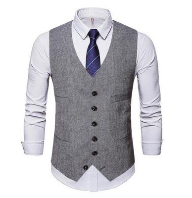 Męska swobodna kamizelka elegancki garnitur