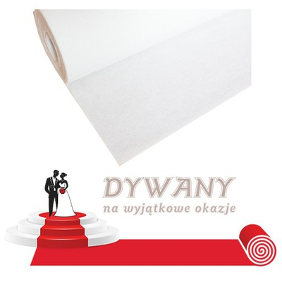 biały dywan na ślub, chodnik, szer. 1m EKONO