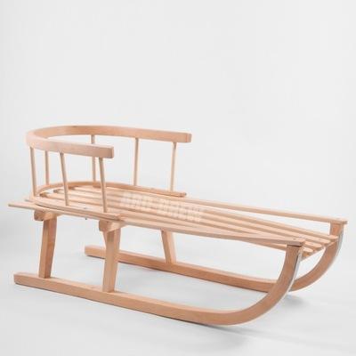 Sanki Drewniane Bukowe Tradycyjne Oparcie HIT