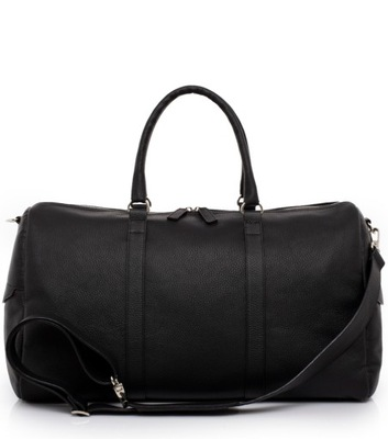 Podróżna torba skórzana SETTA2,na ramię,czarna EiF