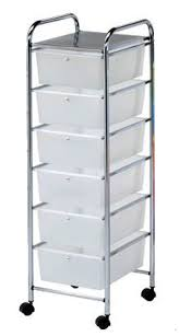 Regał na kółkach z 6 plastikowymi szufladami 3052