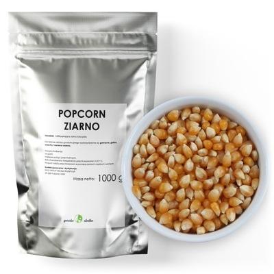 POPCORN KUKURYDZA do prażenia ziarno bez soli 1kg