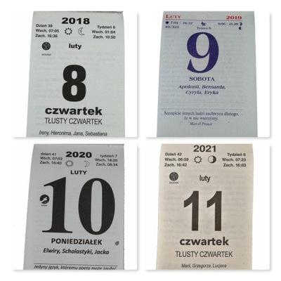 ORYGINALNA KARTKA z KALENDARZ ZDZIERAK 2018-2021