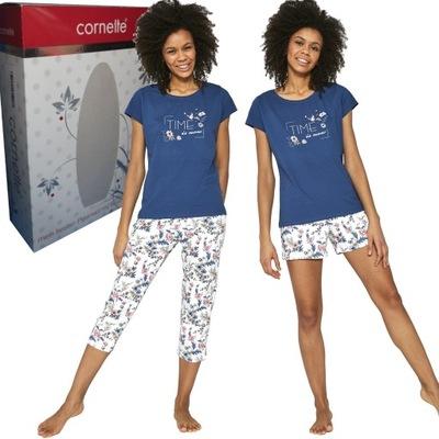 CORNETTE piżama damska 665/204 TIME IS NOW 3-częśc