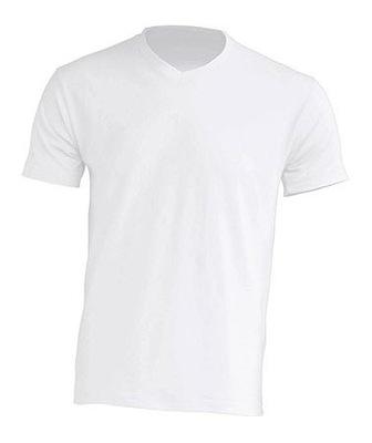 T-SHIRT MĘSKA koszulka JHK V-NECK biała WH M