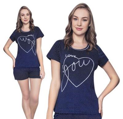 Piżama damska krótkie spodenki LOVE YOU