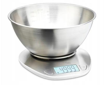 Waga kuchenna z miską Delimano Joy Scale Wit stal