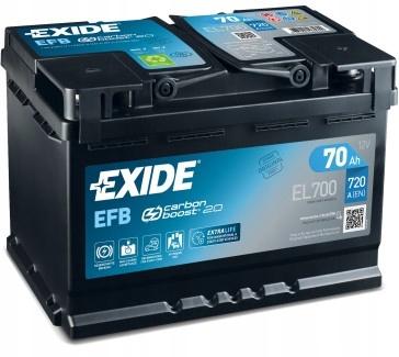 EXIDE EL700 EFB 70Ah 720A START-STOP