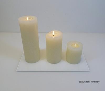 Podstawka pod świece biała - 10x20 cm