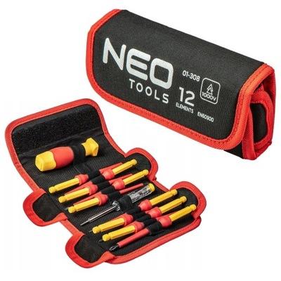Сменные наконечники с держателем 1000В, 12 штук . Neo