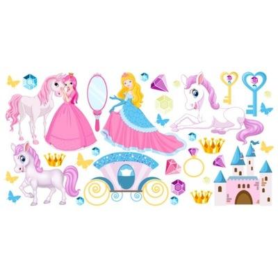 Rozprávkové princezné 200x100 NÁLEPKA NA STENU PRE DZ