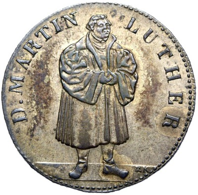 + Niemcy medal 1830 MARTIN LUTHER Augsburg Srebro