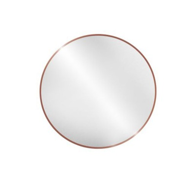 Okrúhle zrkadlo / kruh v ráme, medené Optiwhite 100