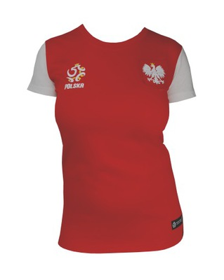 Koszulka t-shirt kibica damska L Polska czerwona