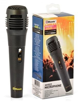 Mikrofon przewodowy dynamiczny Msonic MAK471K