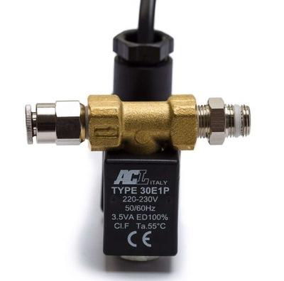 ACL Elektrozawór CO2 3,5W + nypel + złączka prosta