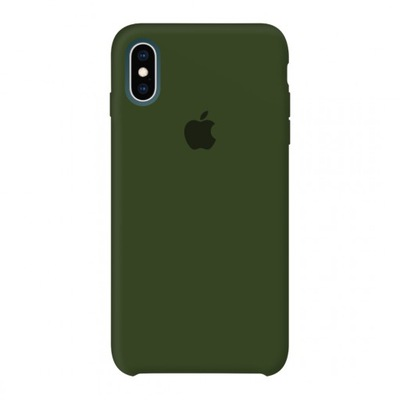 Etui Apple Silicone Case iPhone X   XS Dark Olive