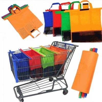 Zestaw toreb torby na zakupy do wózka 4szt