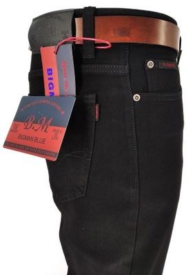 Spodnie Męskie Klasyczne Jeans CZARNE W40 JAKOŚĆ