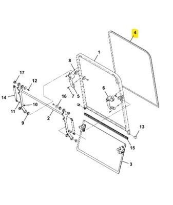 Szyba czołowa, przednia JCB JS 130,145,160,JZ 235