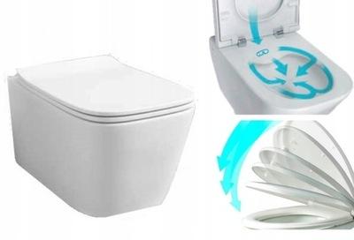 миска туалет BEZRANTOWA 8013D +доска WOLNOOPADAJ +коврик