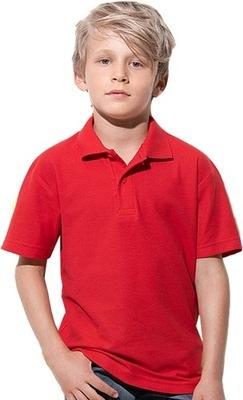 Dziecięca Koszulka z kołnierzem Fruit CZERWONA 116
