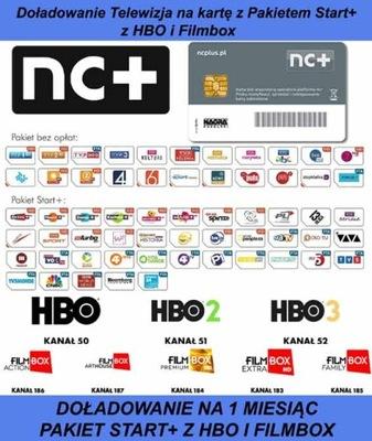 DOŁ. KART NC+ TNK START+ Z HBO I FILMBOX NA 1 MIES