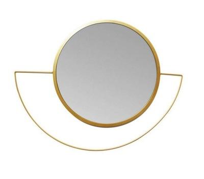 Lustro wiszące FEBE okrągłe dekoracyjne 38cm złote