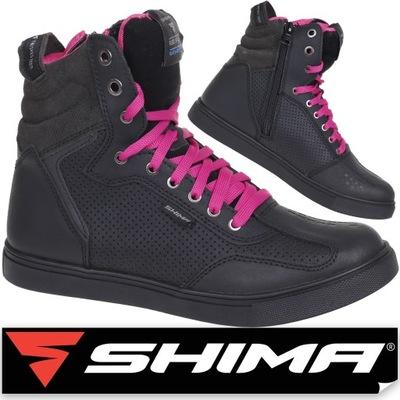 SHIMA REBEL LADY WP BLACK DAMSKIE BUTY MOTOCYKLOWE